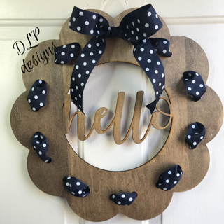 Ribbon Wreath Door Hanger - Unfinished