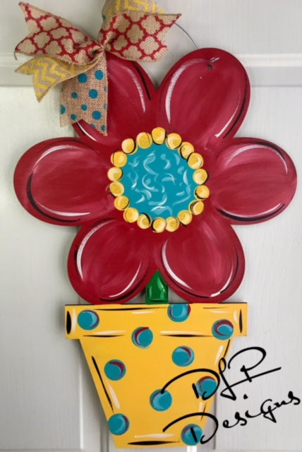 Flower Pot Door Hanger - Unfinished