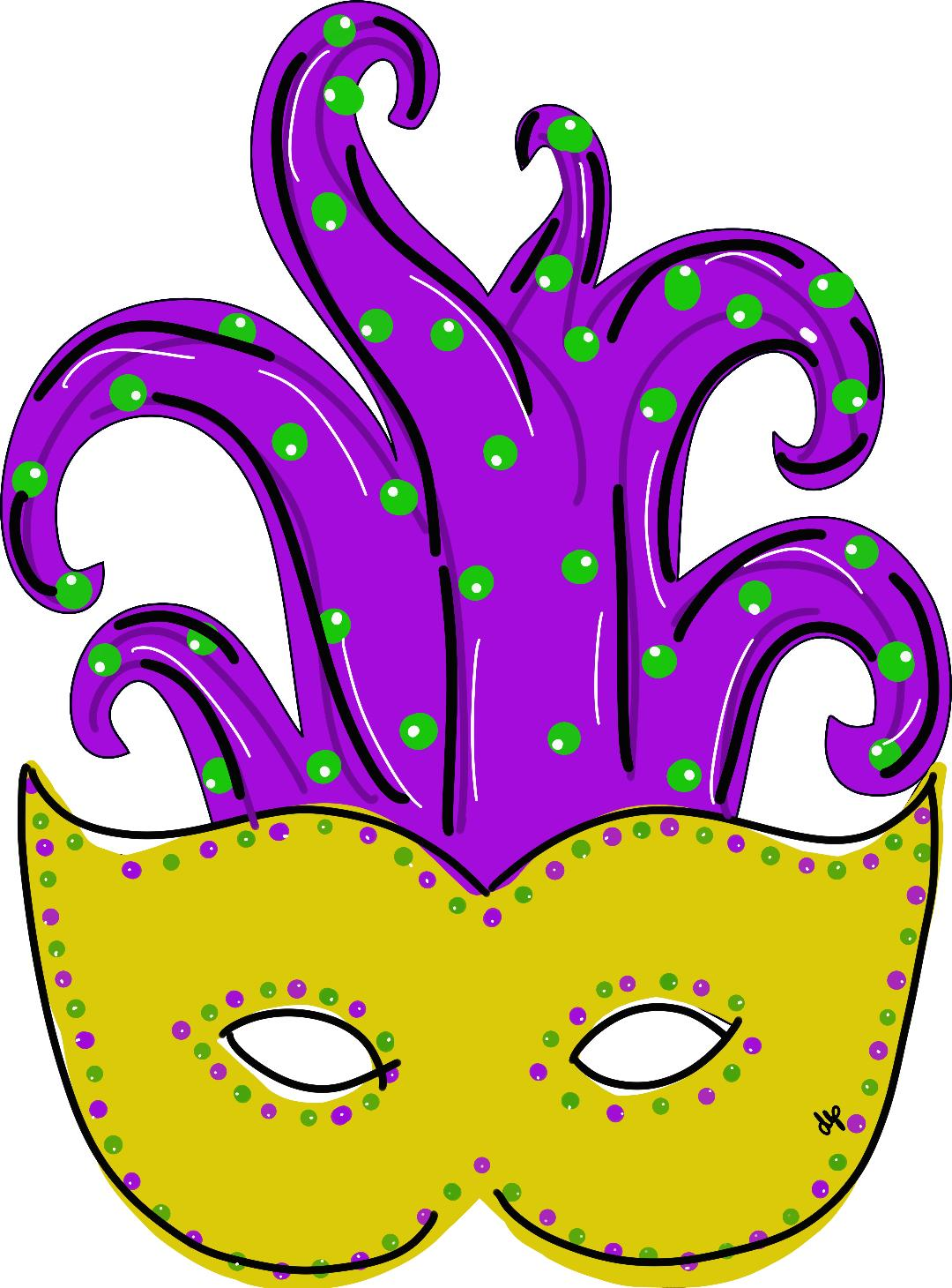 Mardi Gras Mask Door Hanger - Unfinished
