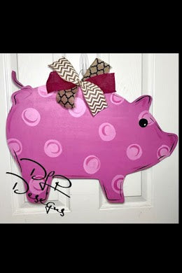 Pig Door Hanger - Unfinished