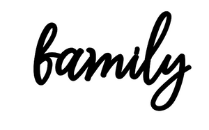 Family Lettering - Unfinished