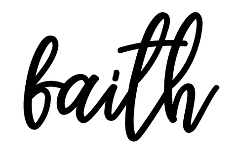 Faith Lettering - Unfinished