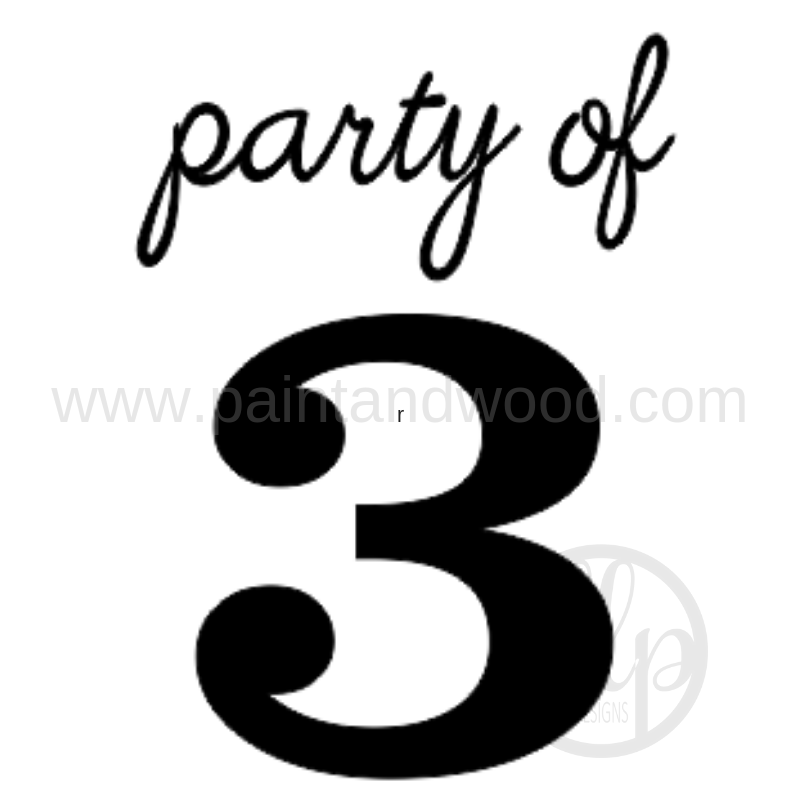Party of 3D Home Decor Sign