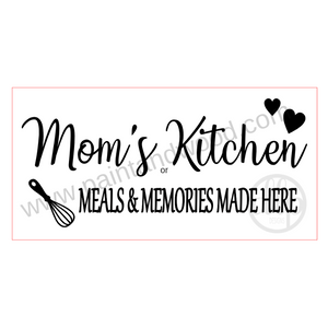 Mom's Kitchen Wooden Lettering - Unfinished