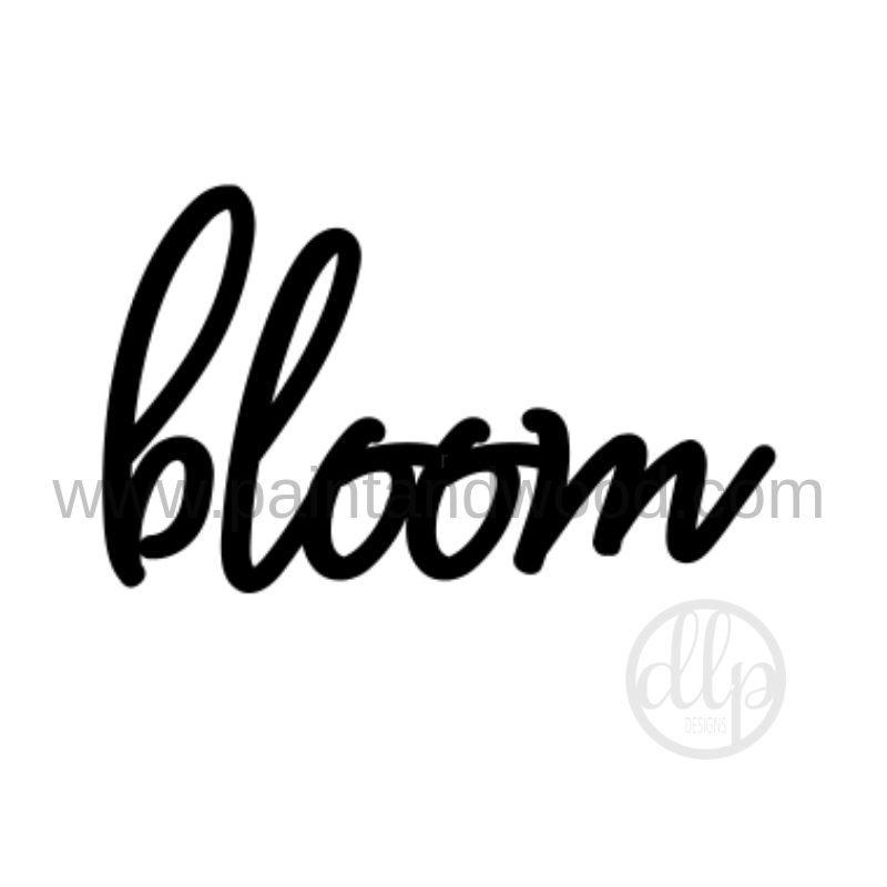 Bloom Lettering - Unfinished