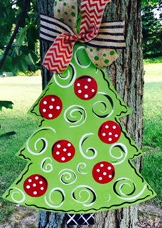 Christmas Tree Door Hanger - Unfinished