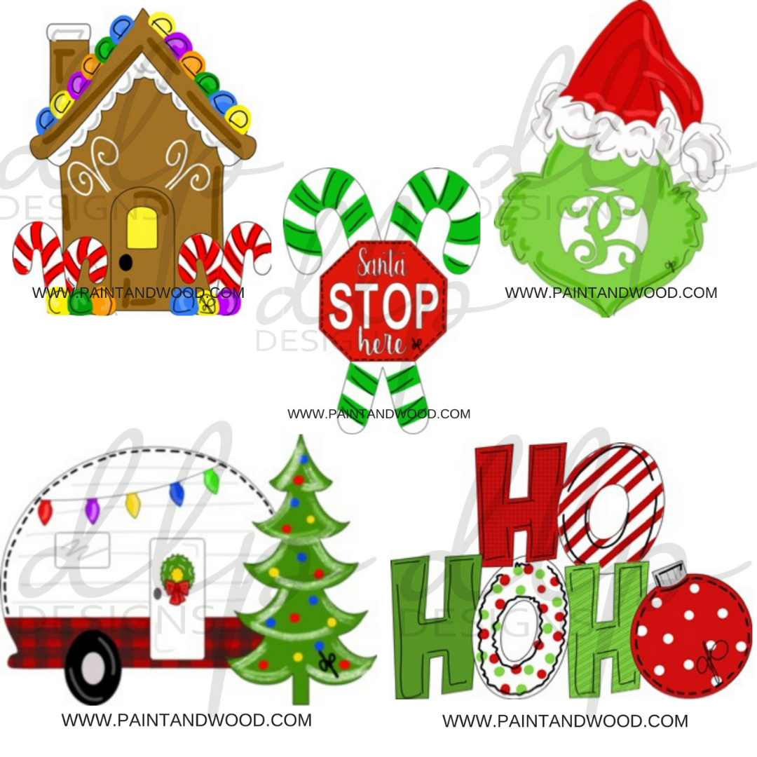 Christmas Whimsical Printable Template Bundle