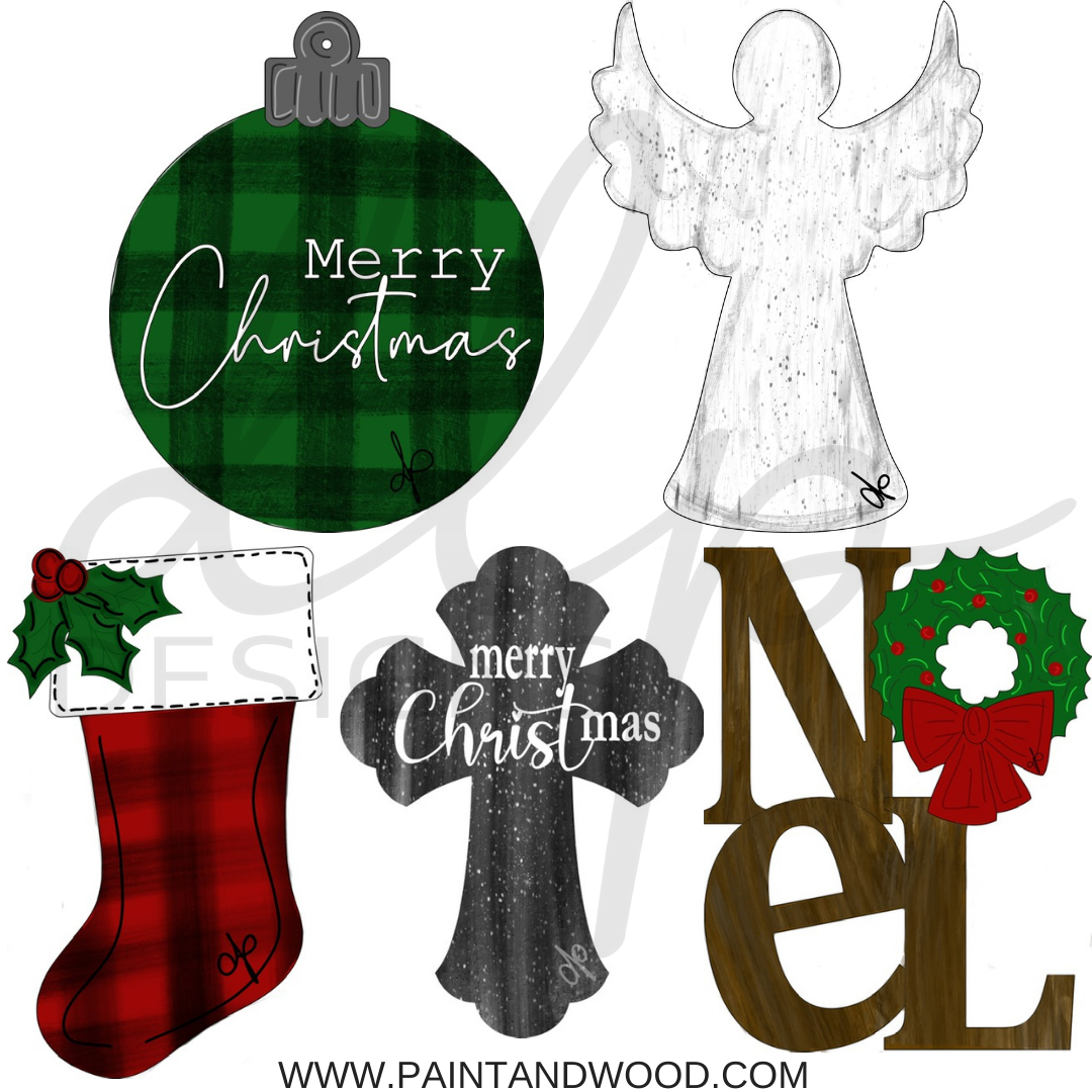 Christmas Traditional Printable Template Bundle