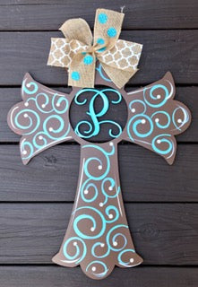 Cross (Customizable) Door Hanger - Unfinished