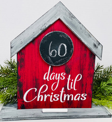 Christmas Countdown Craft Kit - Unfinished