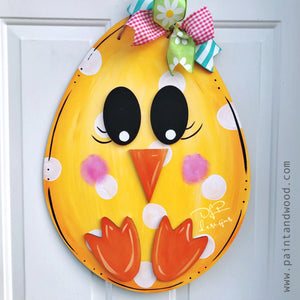 Easter Egg Chick Door Hanger – Unfinished