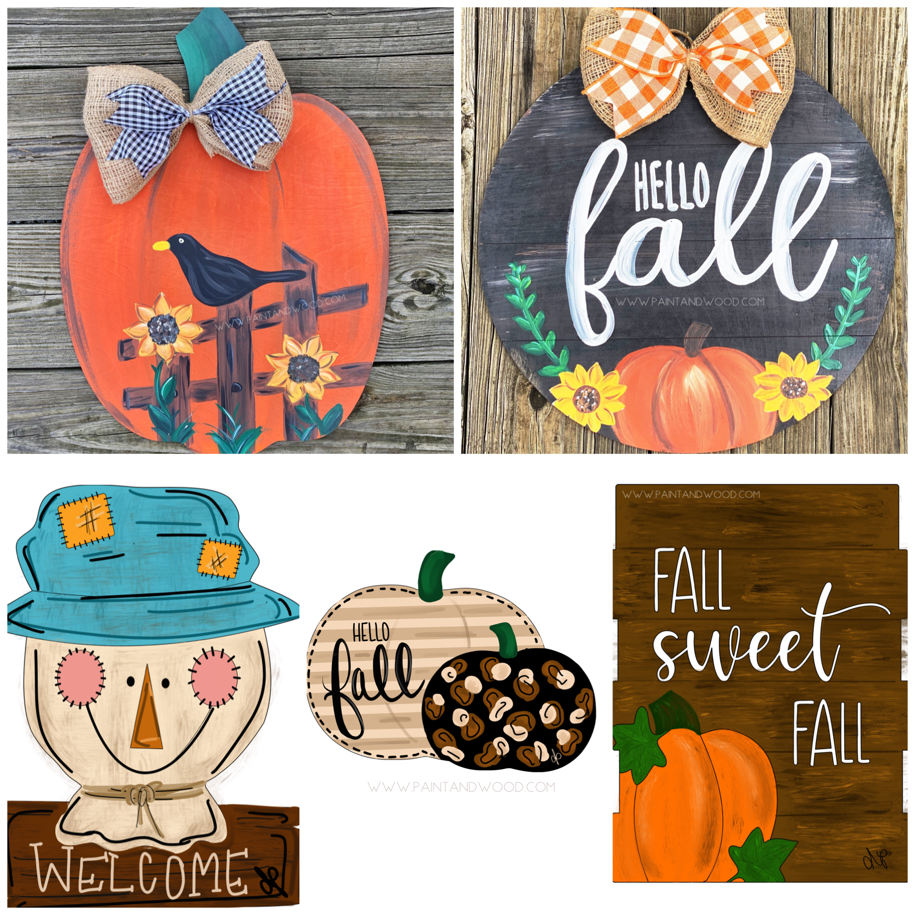 Fall Bundle No. 1 Printable Template Bundle