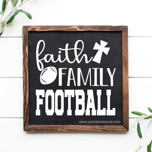 Faith Family Football Wood Lettering & Template File