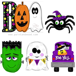 Halloween Pack 2 Printable Template Bundle