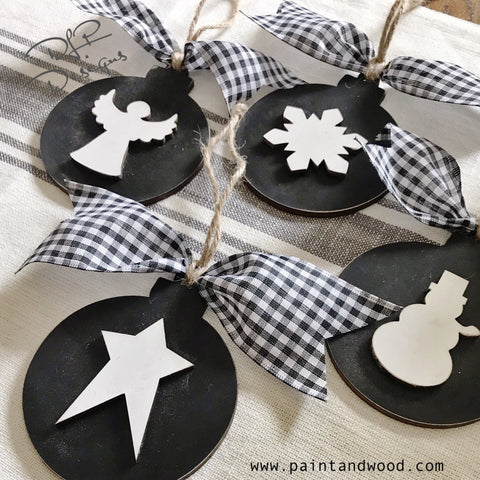 Christmas Ornaments DIY KITS - Unfinished