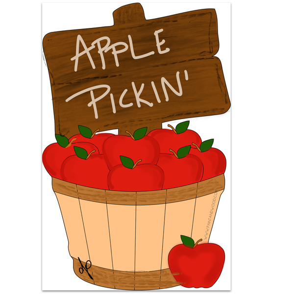 Apple Basket Door Hanger