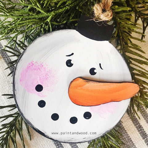Snowman Ornaments DIY KITS - Unfinished