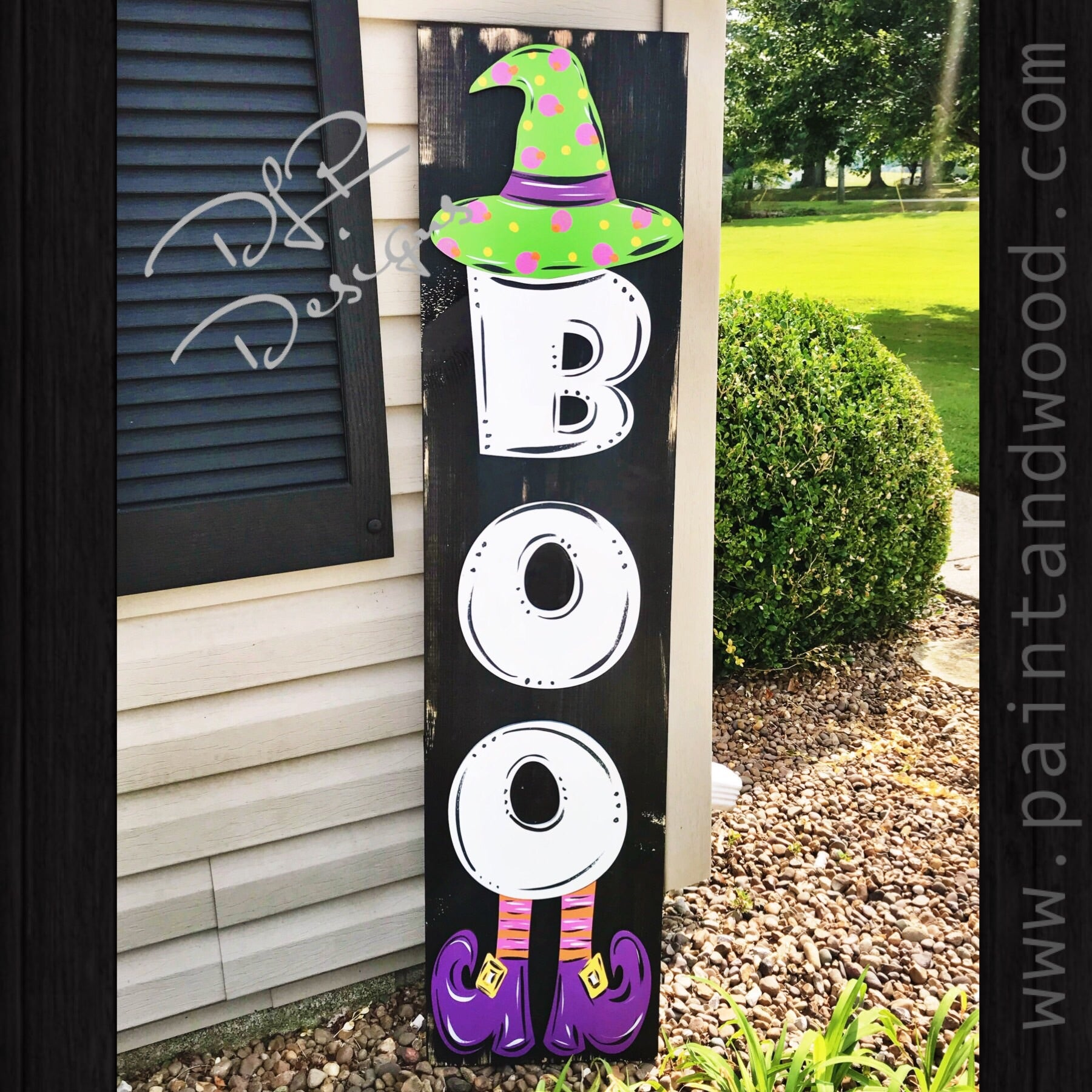 Boo Porch  Sign - Blank Letters - Unfinished