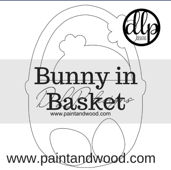 Easter Basket Door Hanger - Unfinished