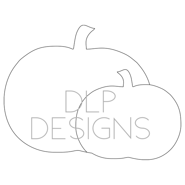 Double Pumpkin Door Hanger