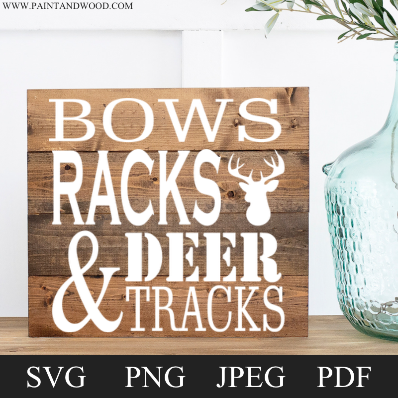 Deer Sign Wood Lettering & Digital File