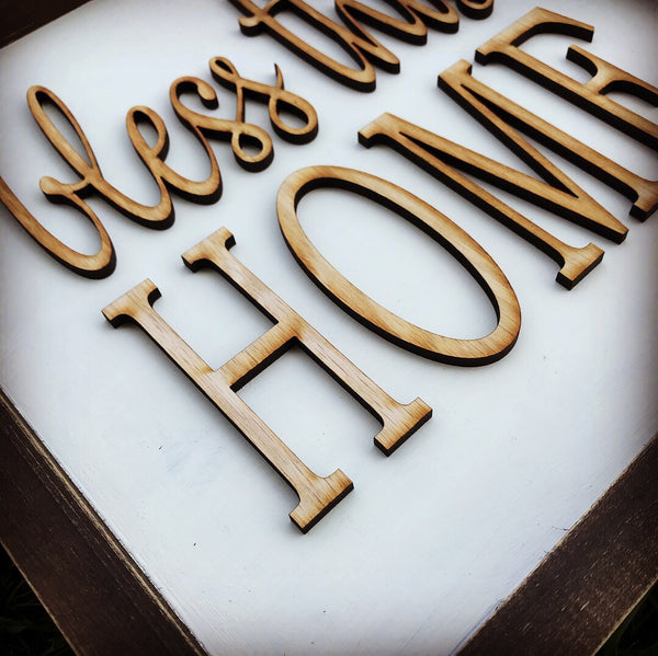 Bless This Home 3D Home Lettering - Unfinished
