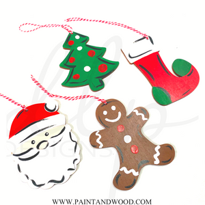 Christmas Shapes Ornament Set - Unfinished
