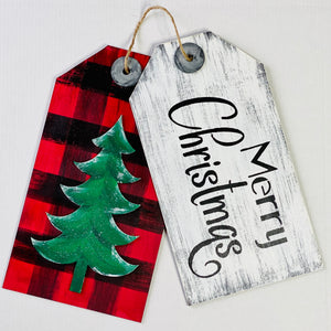 Christmas Tag Door Hanger Kit- Unfinished