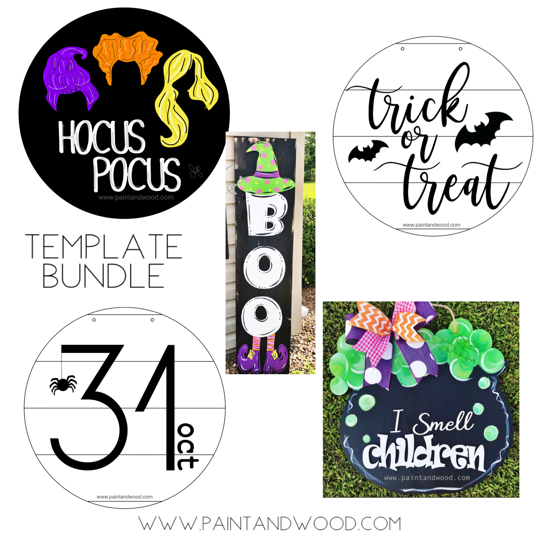 Halloween Pack 1 Printable Template Bundle