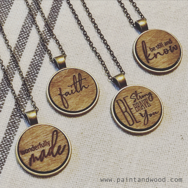 FAITH - WONDERFULLY MADE - BE STRONG NECKLACE