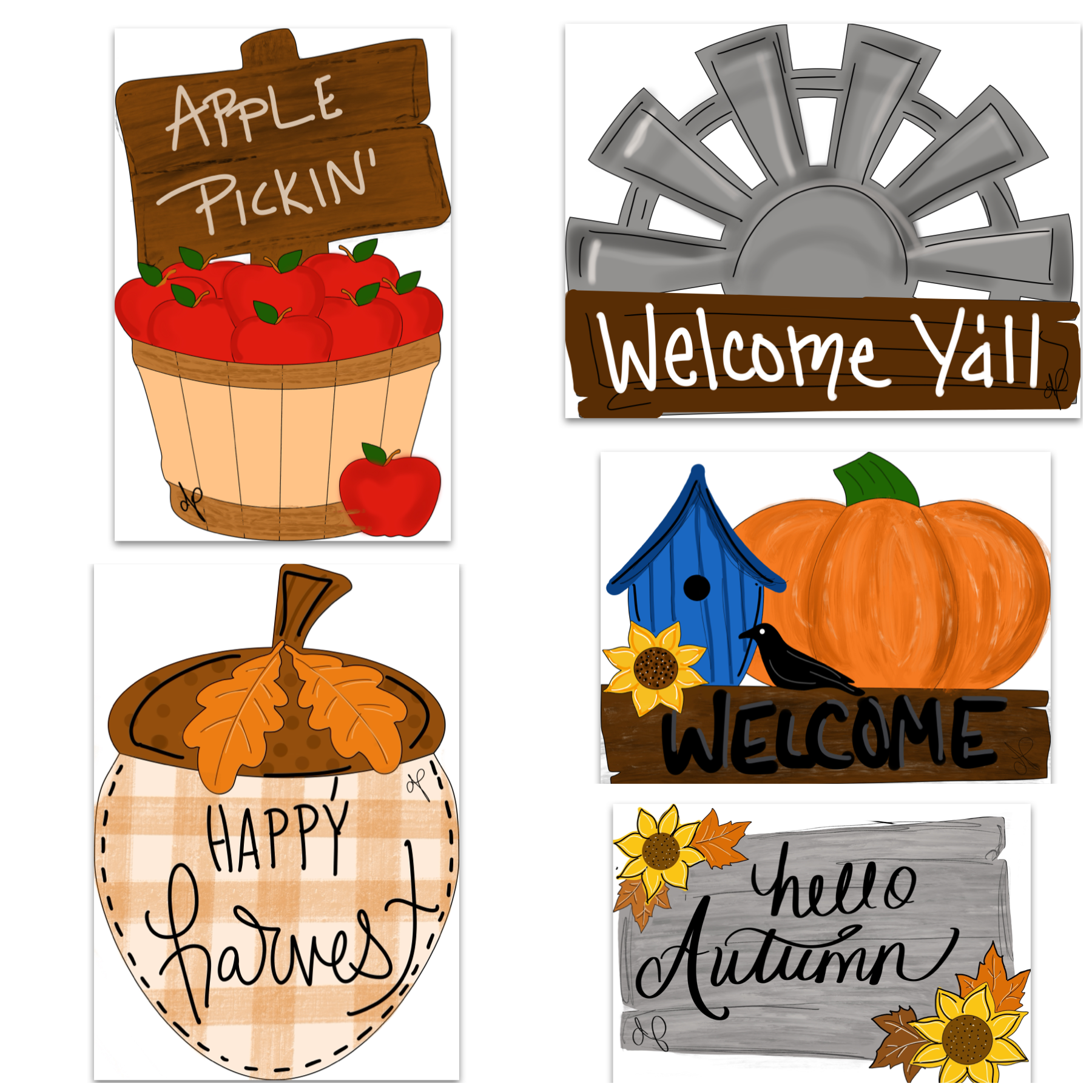 Harvest Printable Template Bundle