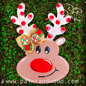 Reindeer Door Hanger Unfinished Dlp Designs