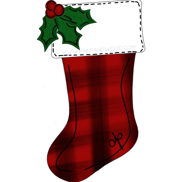 Stocking Ornament Set - Unfinished