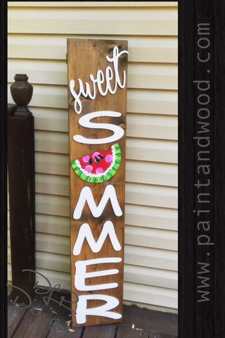 Sweet Summer Porch  Sign - Blank Letters - Unfinished
