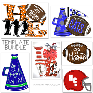 Football & Cheer Printable Template Bundle