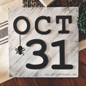 Halloween October 31 Lettering - Unfinished