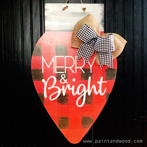 Christmas Light Bulb Painted Door Hanger