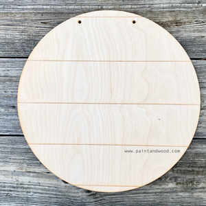 Shiplap Style Round Door Hanger - Unfinished