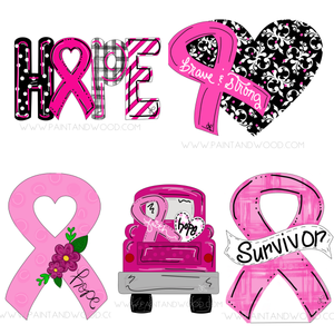 Breast Cancer Awareness Printable Template Bundle