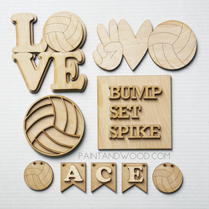 Volleyball Tiered Tray Decor Craft Kit