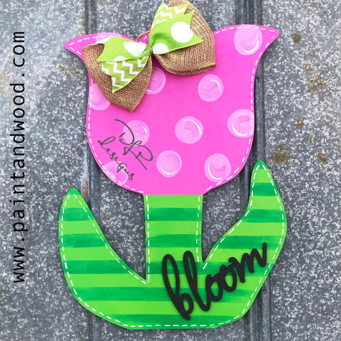 Tulip Door Hanger - Unfinished
