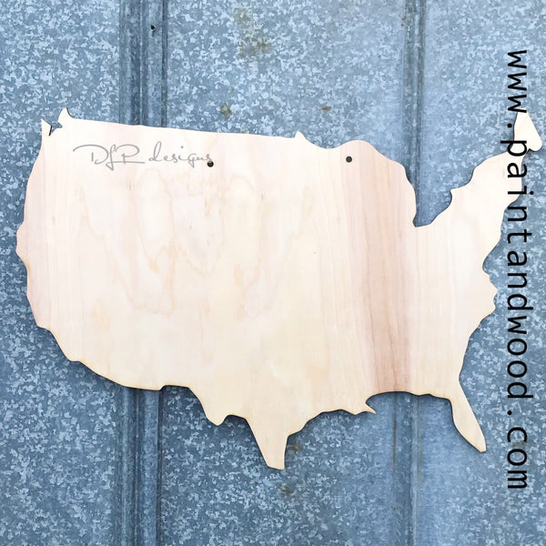 USA Door Hanger - Unfinished