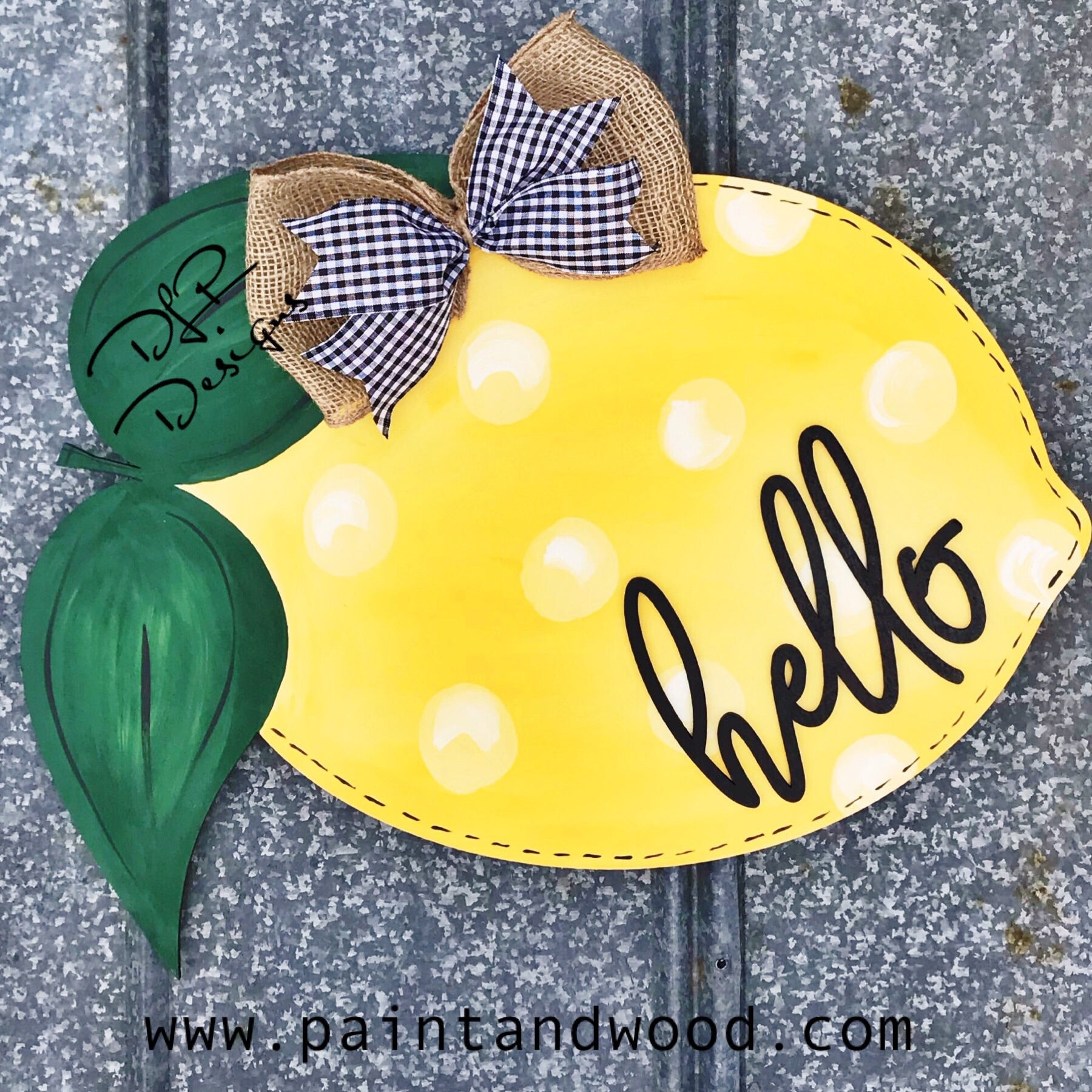 Lemon Door Hanger - Unfinished