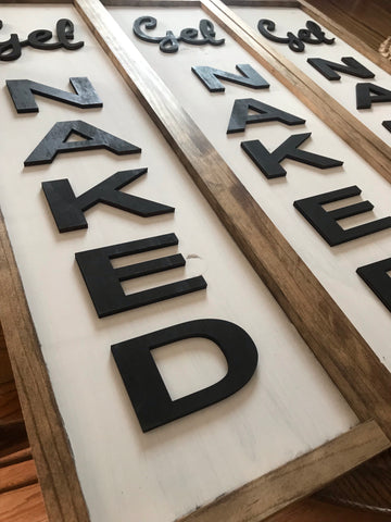 Get Naked 3D Home Decor Sign