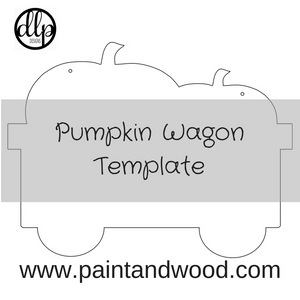 Pumpkin Wagon Door Hanger