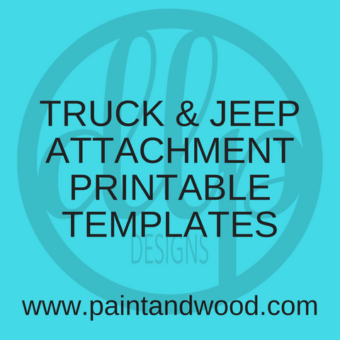 Truck & Jeep with Optional Attachments Templates