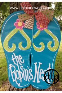 Flip Flop Door Hanger - Unfinished
