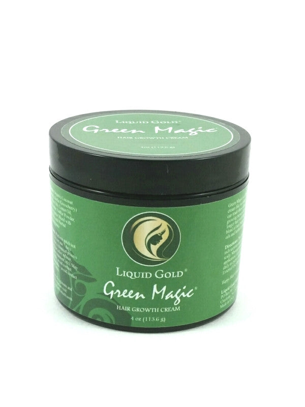 Hair Growth Cream - Green Magic 4oz For Thicker Longer Hair