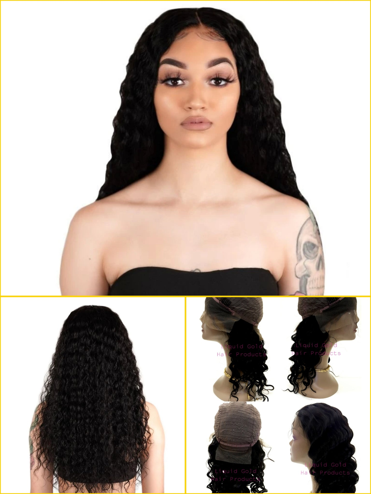 Wig Brazilian Deep Wave Human Hair Lace Front Wig