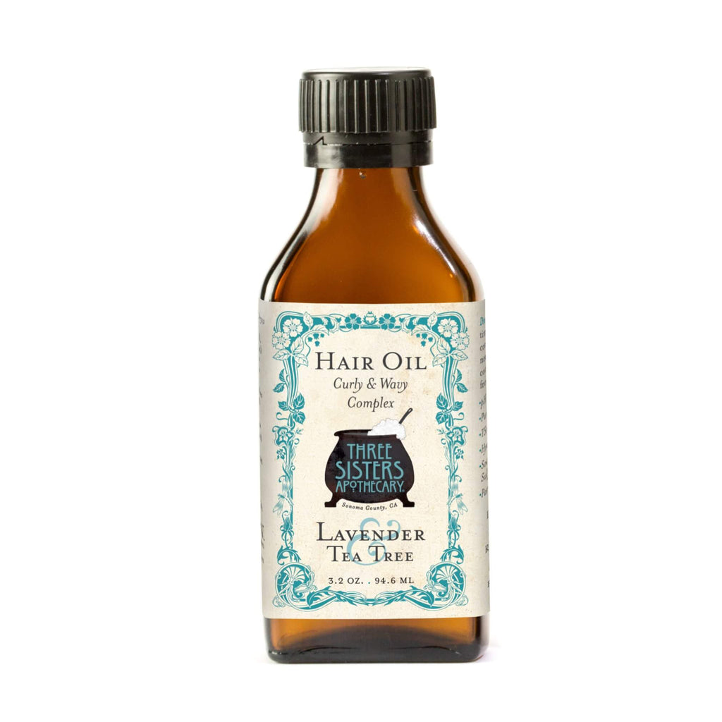 Three Sisters Apothecary Hair Oil Lavender 3.2oz - The Scarlet Sage Herb Co.